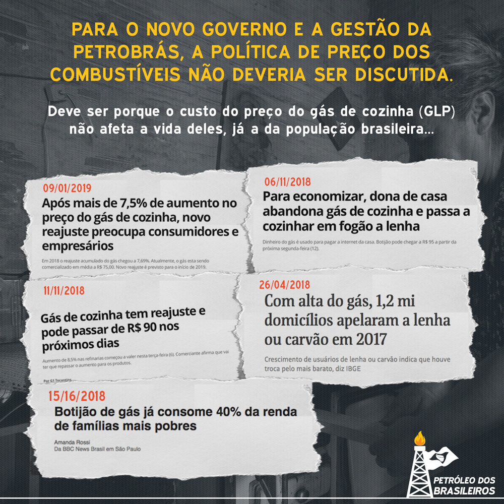 Para o Governo de Bolsonaro e a atual gestão da Petrobrás, a política de preço dos combustíveis não deveria ser discutida.